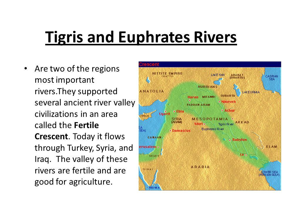Jordan River Starts at Mount Hermon and then forms the natural border between Jordan and Israel.