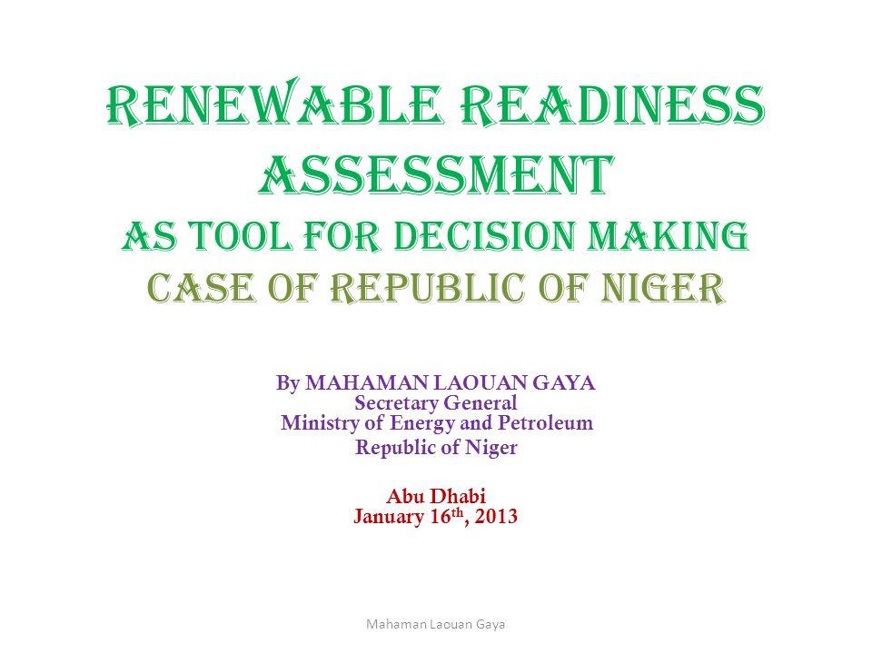 Energy Legal Framework Economic and Social Development Plan 2012-2015 (PDES).