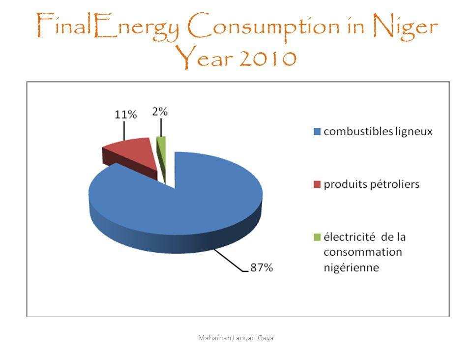 FinalEnergy Consumption in Niger Year 2010 Mahaman Laouan Gaya