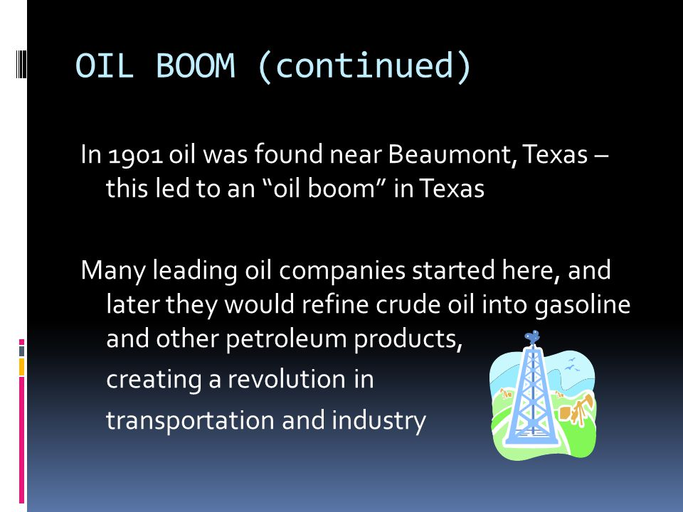 INDUSTRY New technology in oil and steel industries MAKING STEEL: in the 1850's a new method, called the Bessemer process, made steel making faster and cheaper American steel mills: 1873: 115,000 tons 1910: 24 million tons