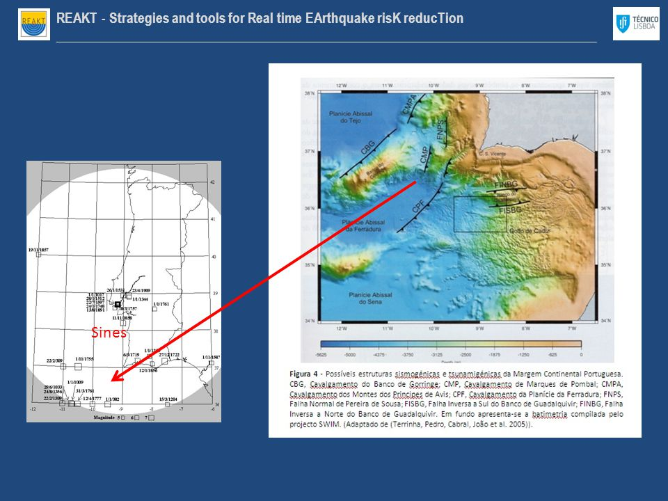 REAKT - Strategies and tools for Real time EArthquake risK reducTion ________________________________________________________________________________ Sines