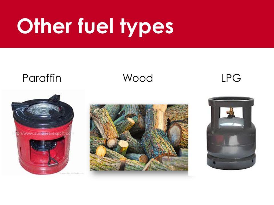 Other fuel types ParaffinWoodLPG