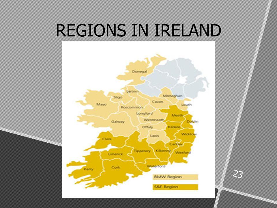 23 REGIONS IN IRELAND cCCC