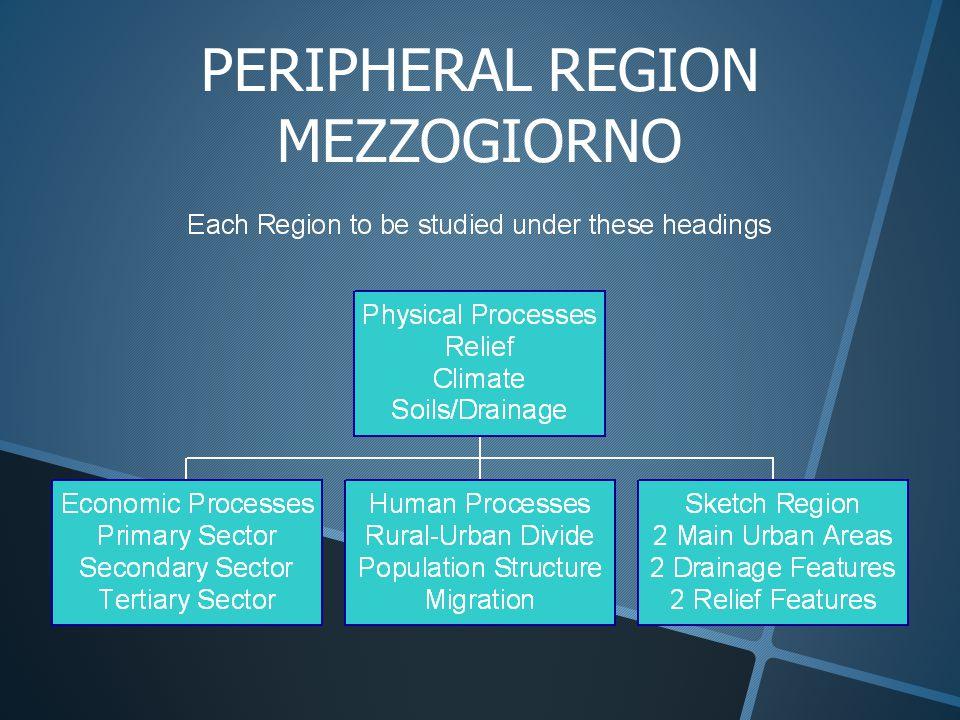 PERIPHERAL REGION MEZZOGIORNO
