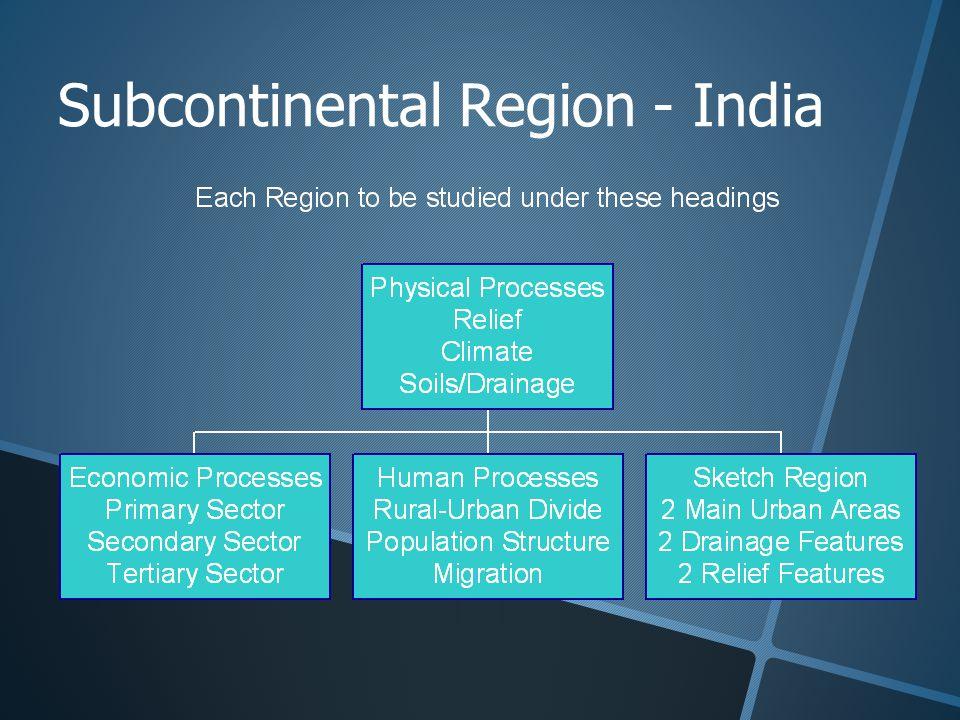 Subcontinental Region - India