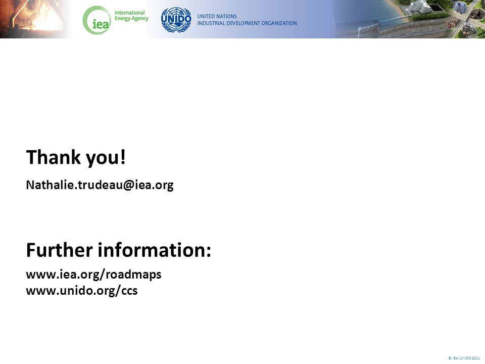 © IEA/UNIDO 2011 Thank you.