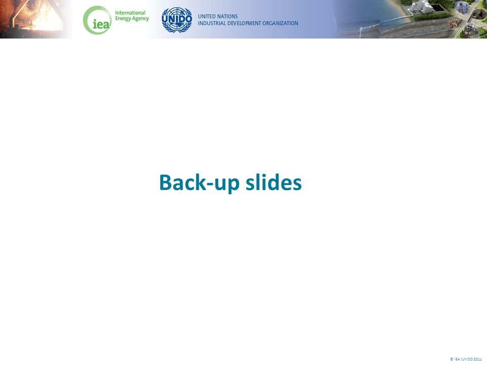 © IEA/UNIDO 2011 Back-up slides