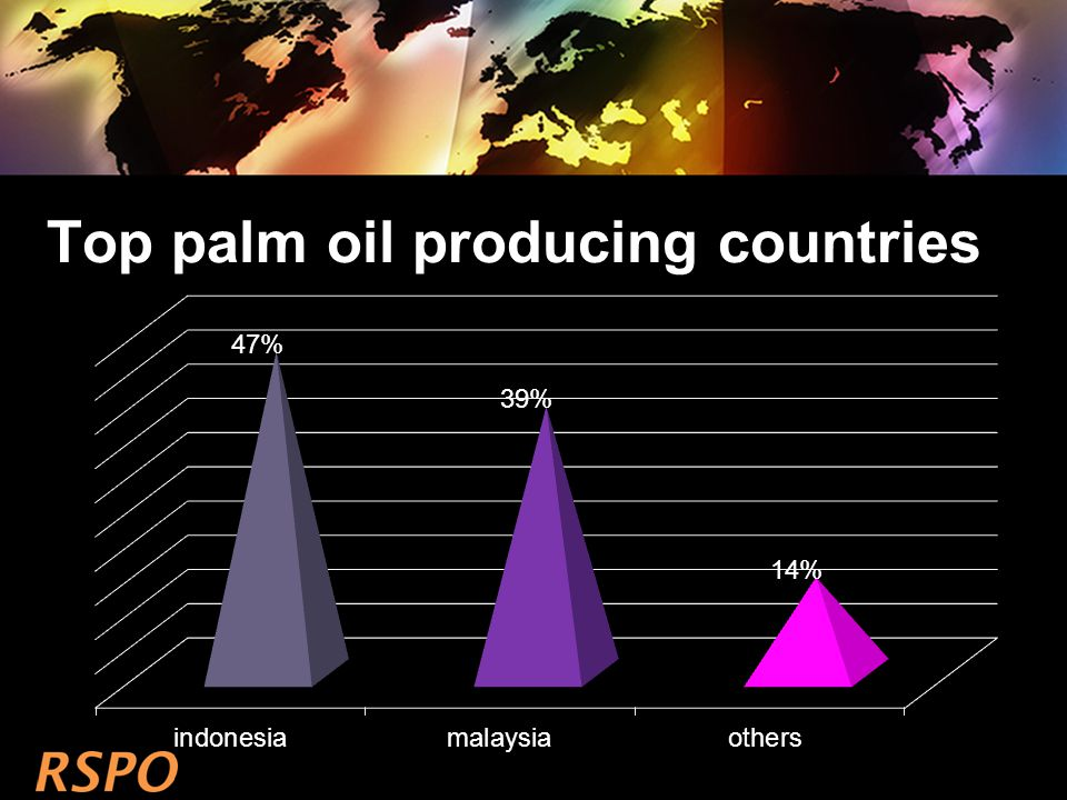 Top palm oil producing countries