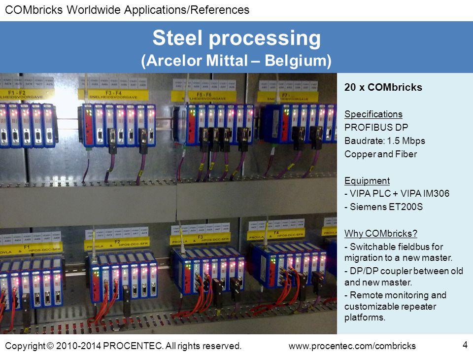 COMbricks Worldwide Applications/References Copyright © 2010-2014 PROCENTEC.