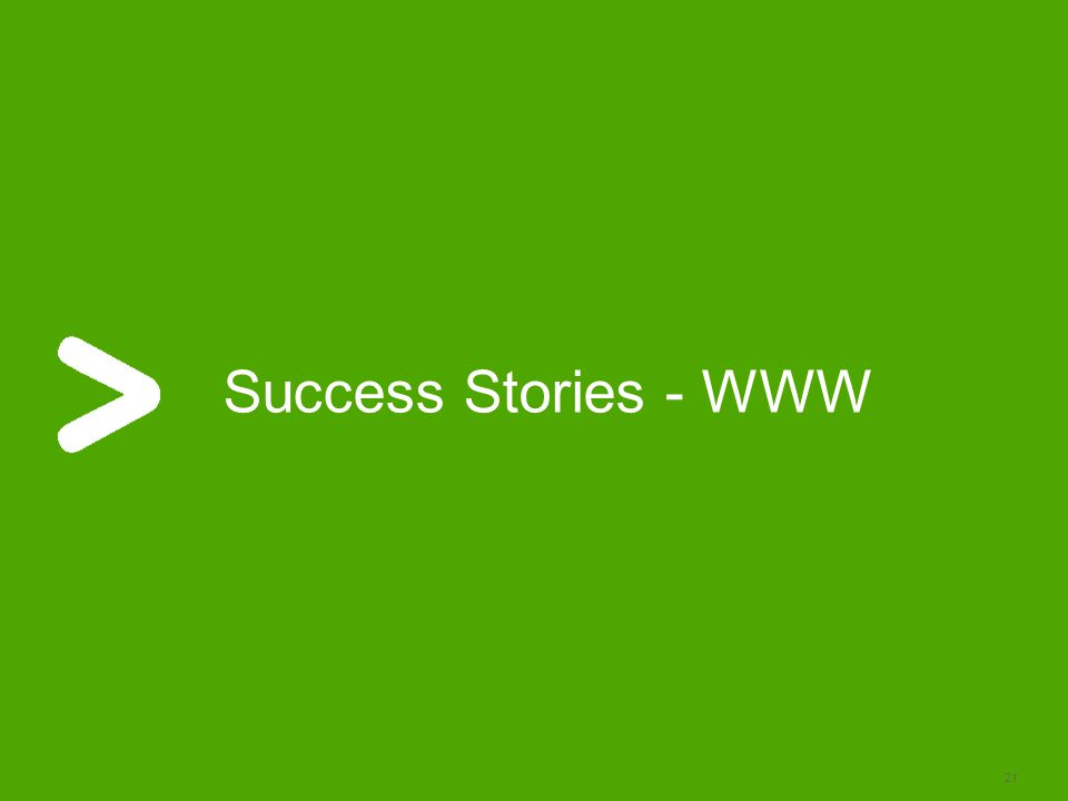21 Success Stories - WWW