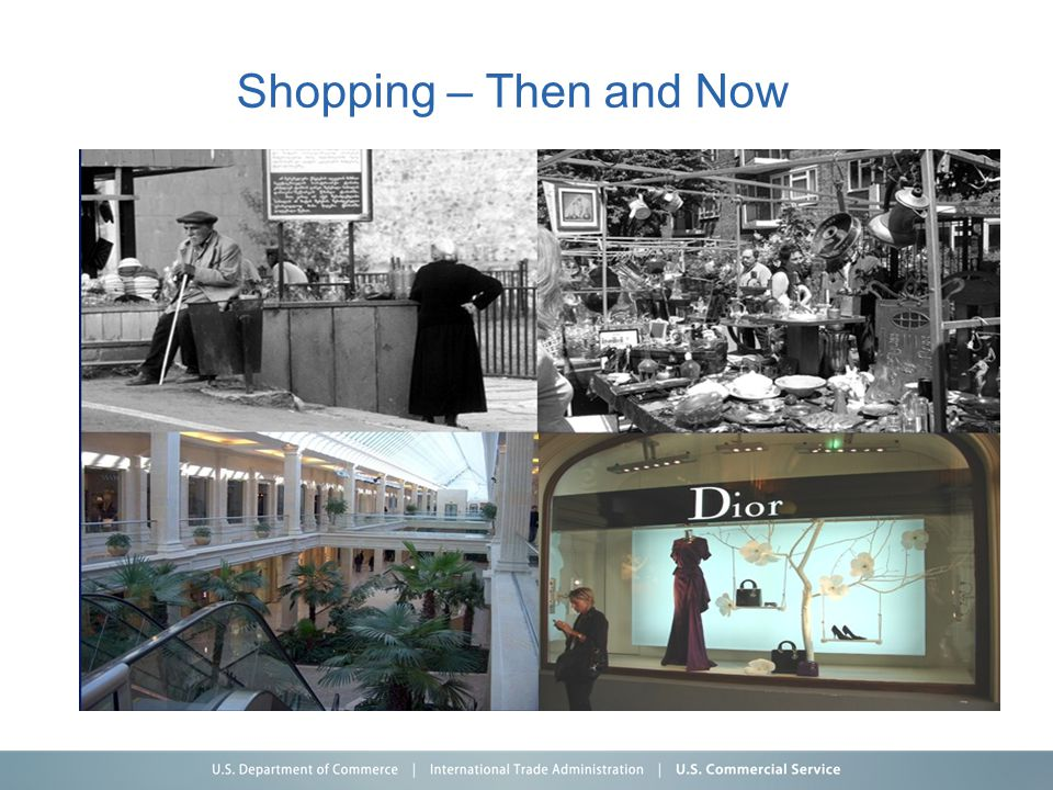 Shopping – Then and Now