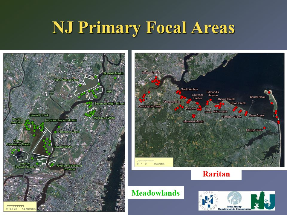 NJ Primary Focal Areas Meadowlands Raritan
