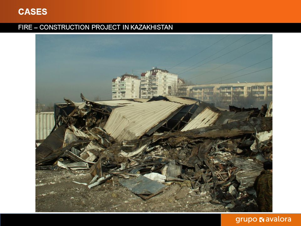 Titulo de la Presentación CASES FIRE – CONSTRUCTION PROJECT IN KAZAKHISTAN