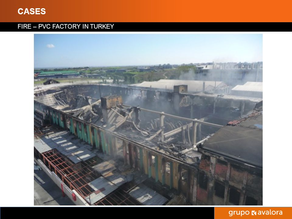 Titulo de la Presentación CASES FIRE – PVC FACTORY IN TURKEY