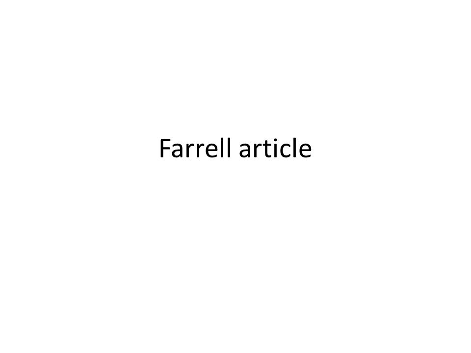 Farrell article