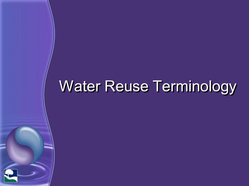 Water Reuse Terminology
