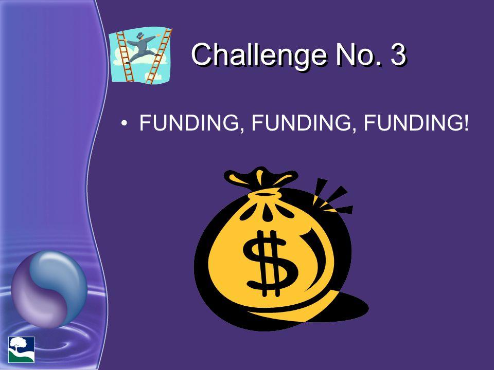 Challenge No. 3 FUNDING, FUNDING, FUNDING!