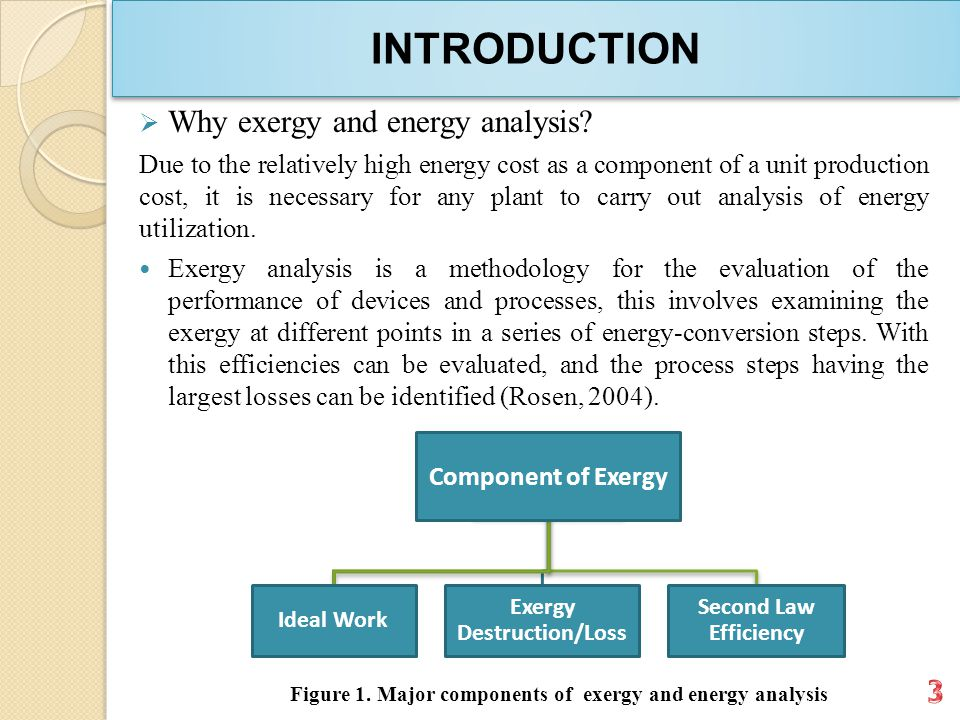 INTRODUCTION  Why exergy and energy analysis.