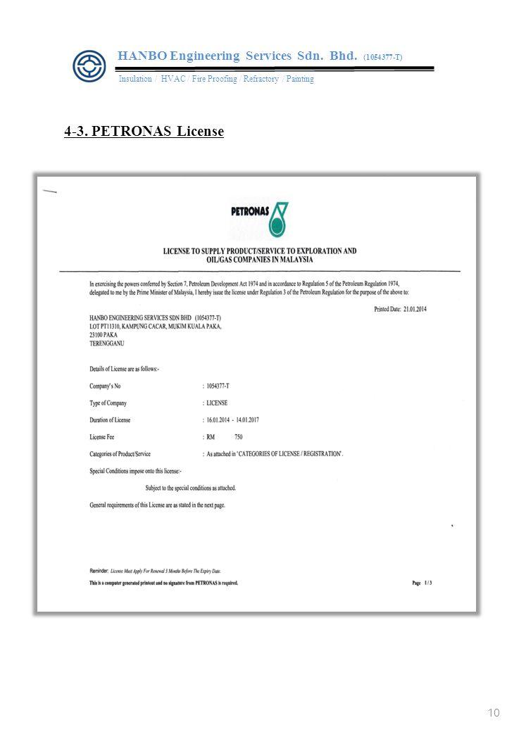 10 4-3.PETRONAS License HANBO Engineering Services Sdn.