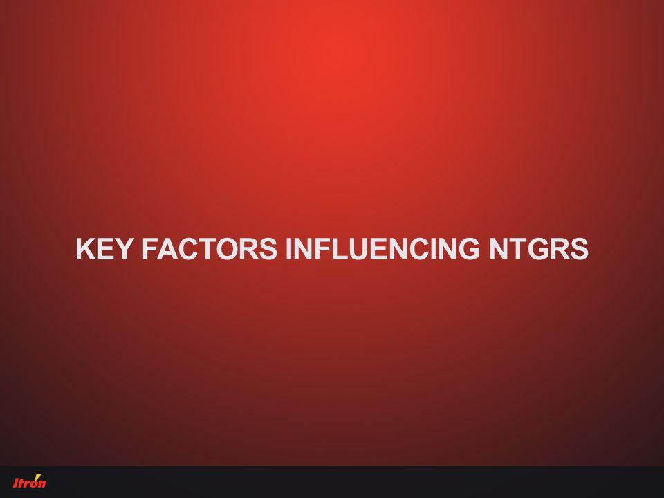 KEY FACTORS INFLUENCING NTGRS