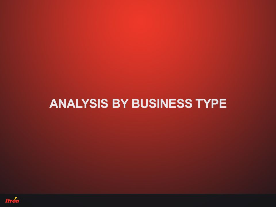 ANALYSIS BY BUSINESS TYPE