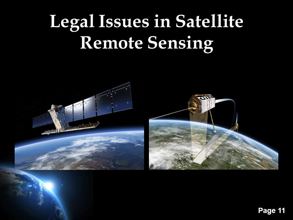 Page 11 Legal Issues in Satellite Remote Sensing