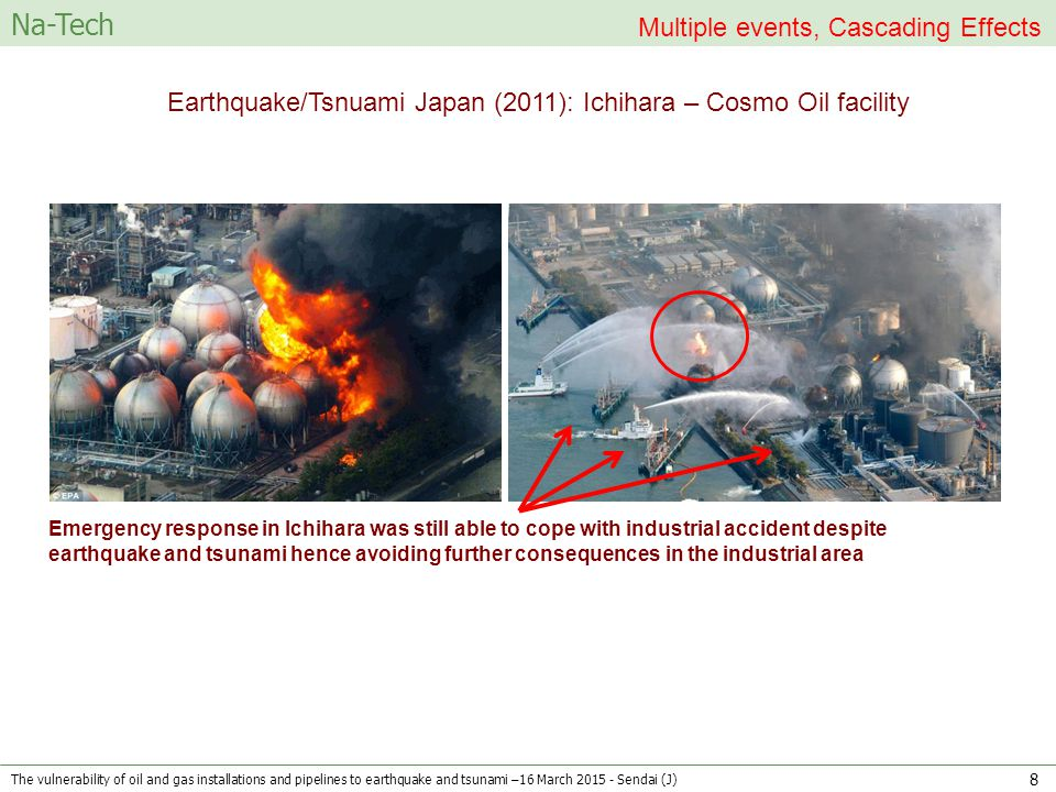 Earthquake/Tsnuami Japan (2011): Ichihara – Cosmo Oil facility Emergency response in Ichihara was still able to cope with industrial accident despite
