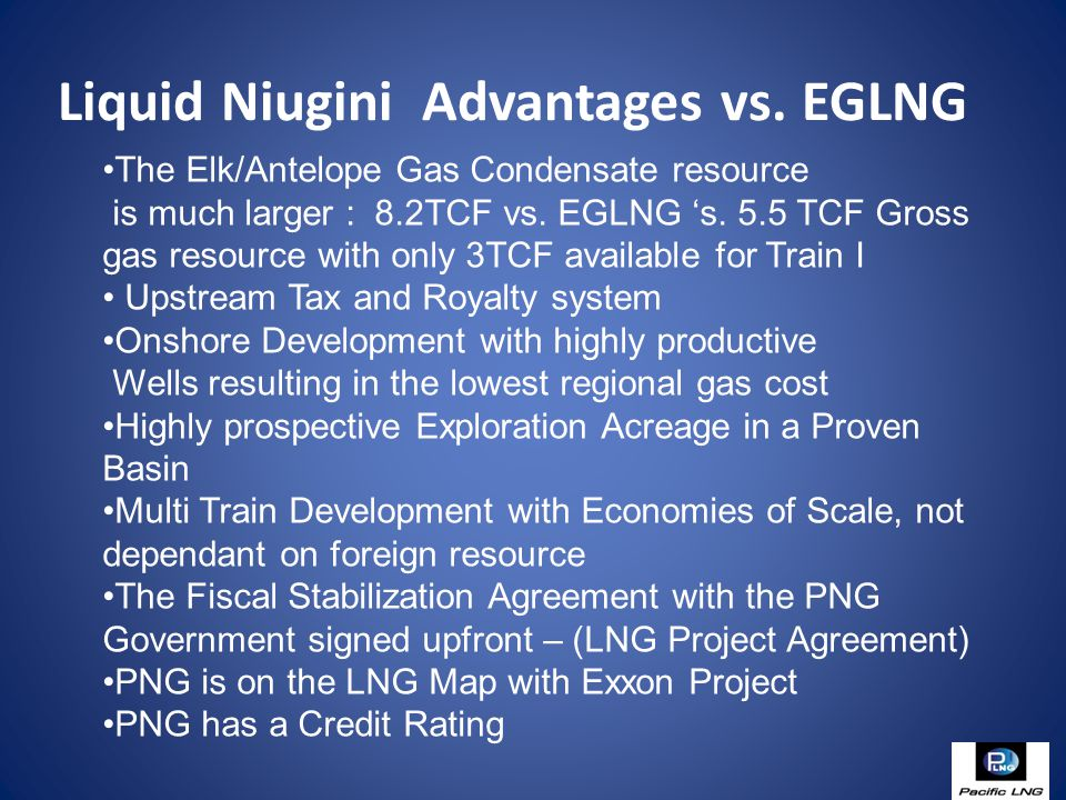 Liquid Niugini Advantages vs.