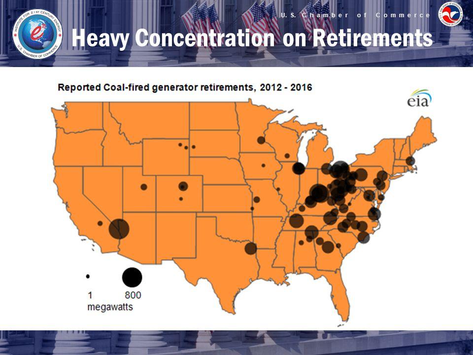 U. S. C h a m b e r o f C o m m e r c e Heavy Concentration on Retirements