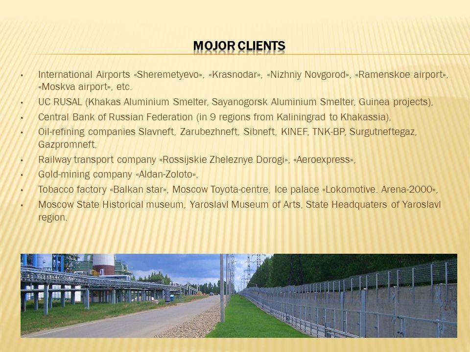 International Airports «Sheremetyevo», «Krasnodar», «Nizhniy Novgorod», «Ramenskoe airport», «Moskva airport», etc.