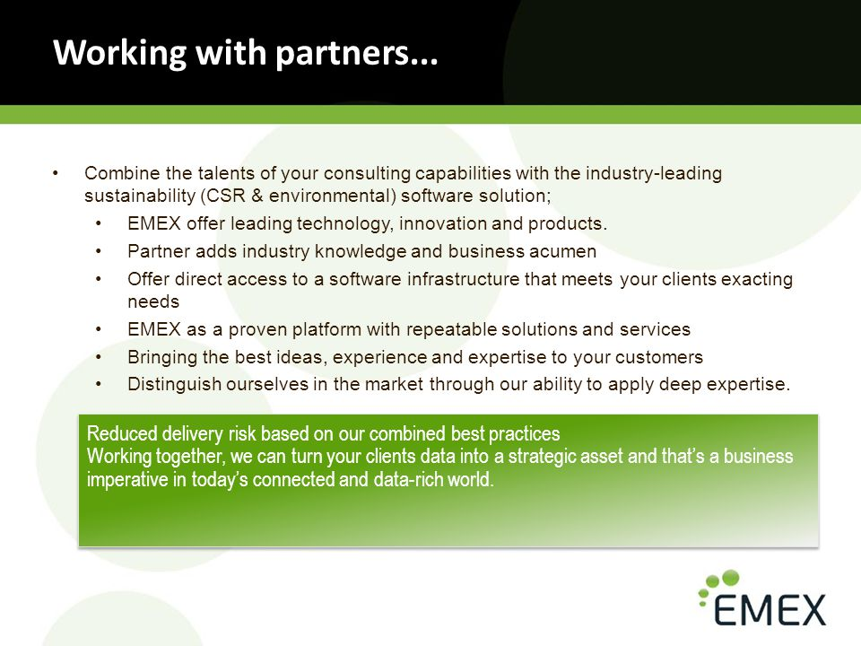 Working with partners...