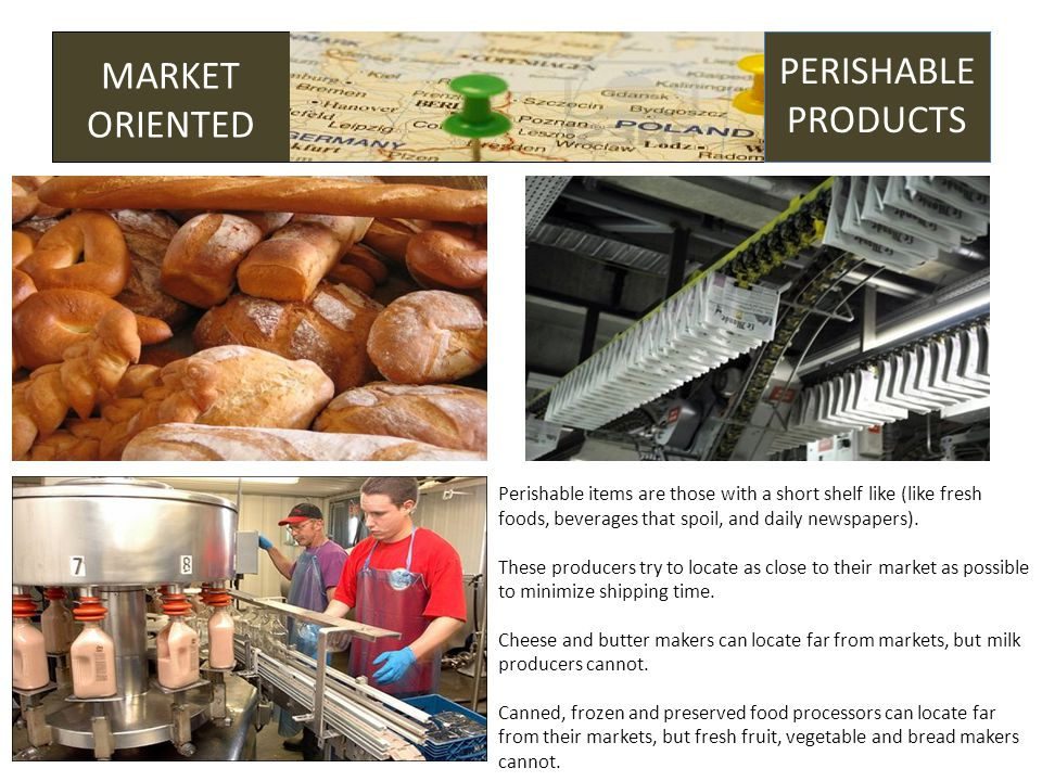 GROUNDING MARKET ORIENTED PERISHABLE PRODUCTS Perishable items are those with a short shelf like (like fresh foods, beverages that spoil, and daily newspapers).
