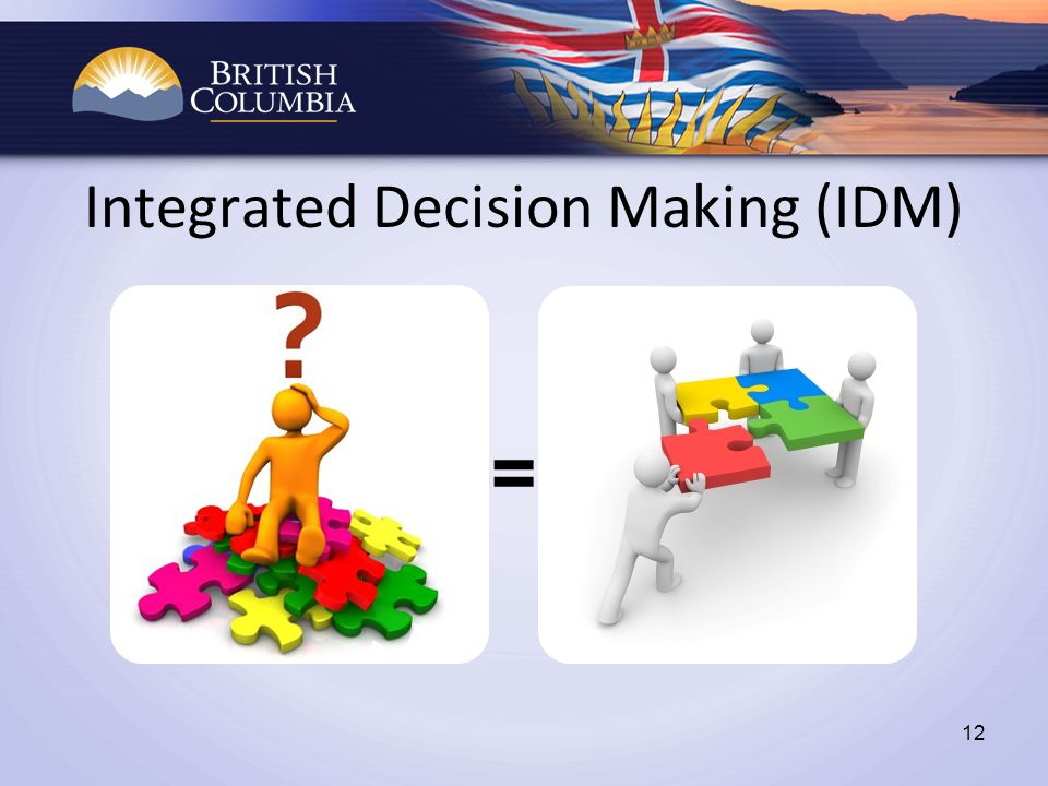 Integrated Decision Making (IDM) 12 =