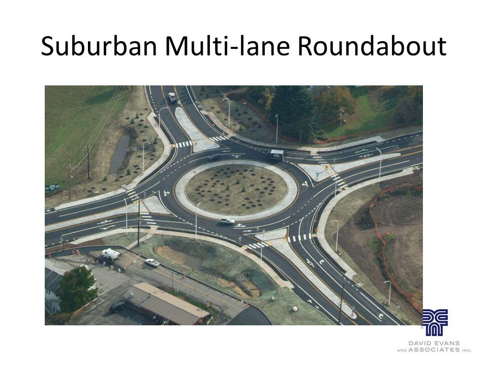 Suburban Multi-lane Roundabout