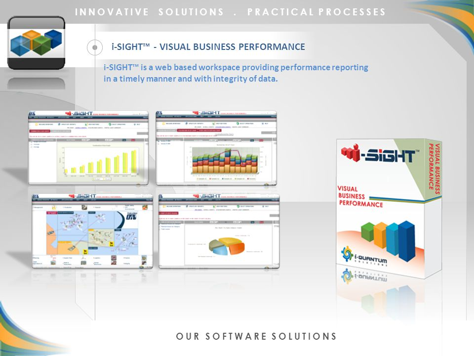 i-SIGHT™ - VISUAL BUSINESS PERFORMANCE INNOVATIVE SOLUTIONS.