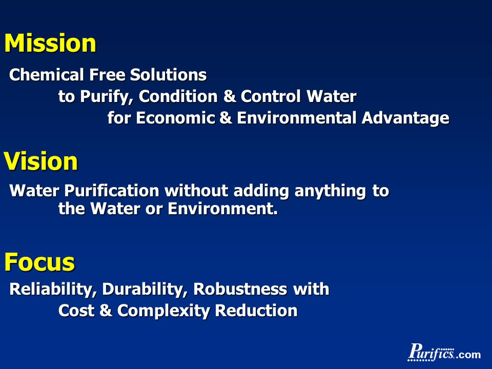 .comMission Chemical Free Solutions to Purify, Condition & Control Water for Economic & Environmental Advantage for Economic & Environmental Advantage