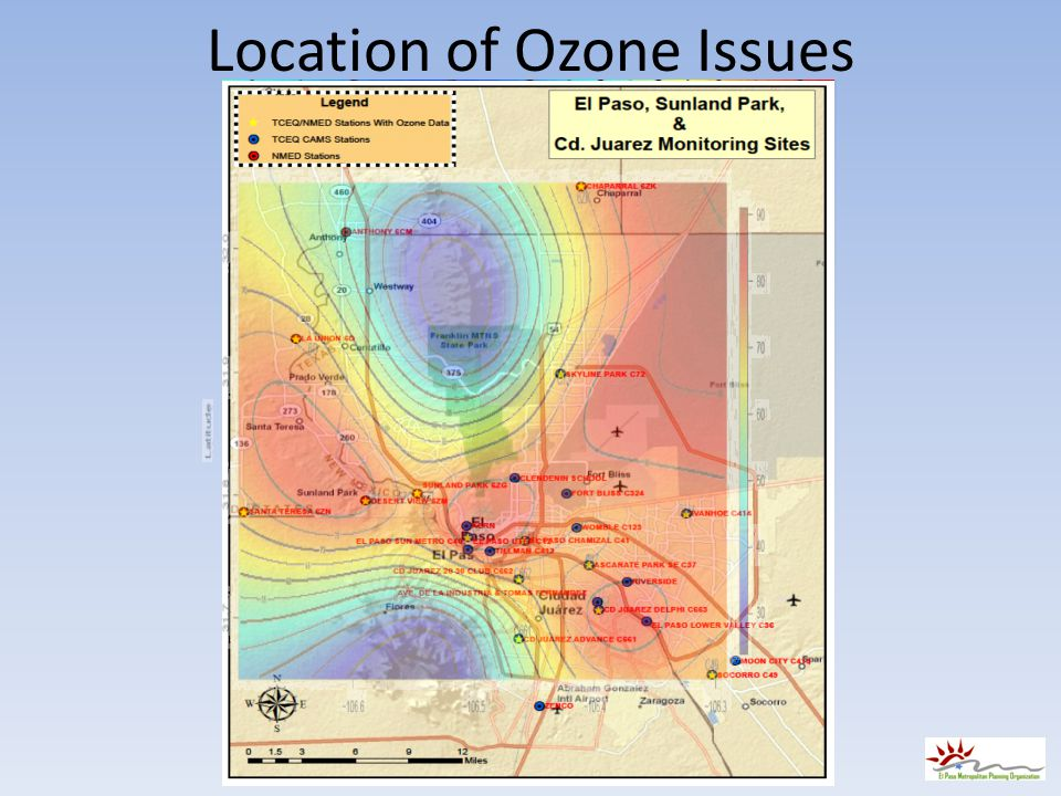 Location of Ozone Issues