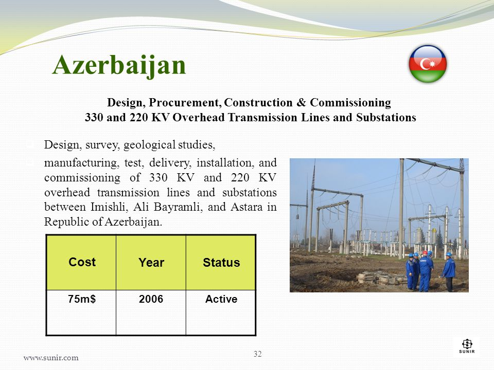  Design, survey, geological studies,  manufacturing, test, delivery, installation, and commissioning of 330 KV and 220 KV overhead transmission line