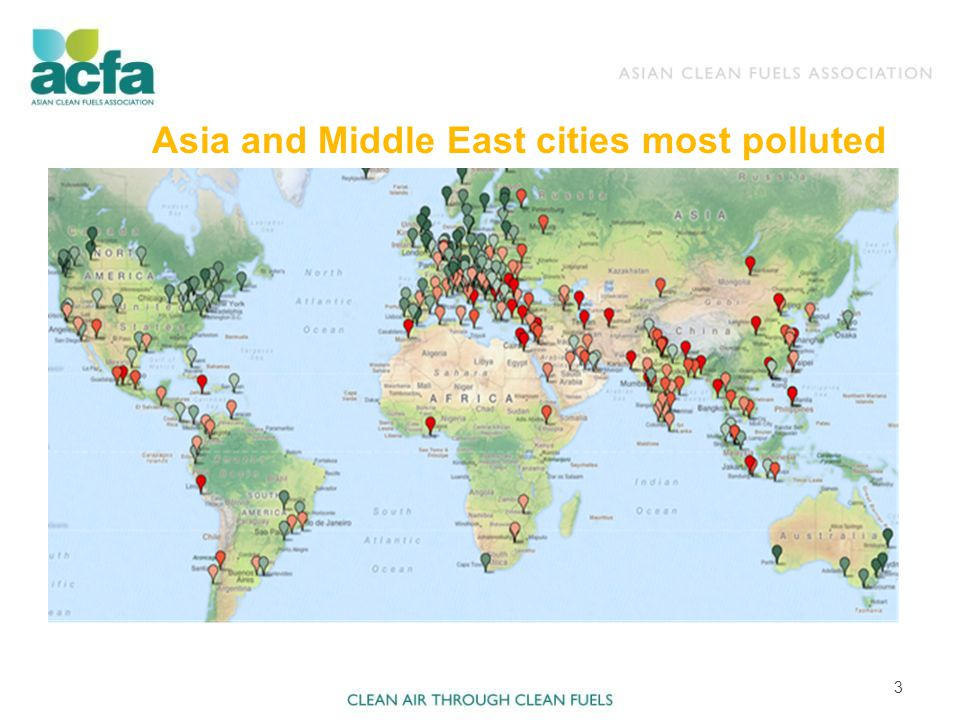 Asia and Middle East cities most polluted 3
