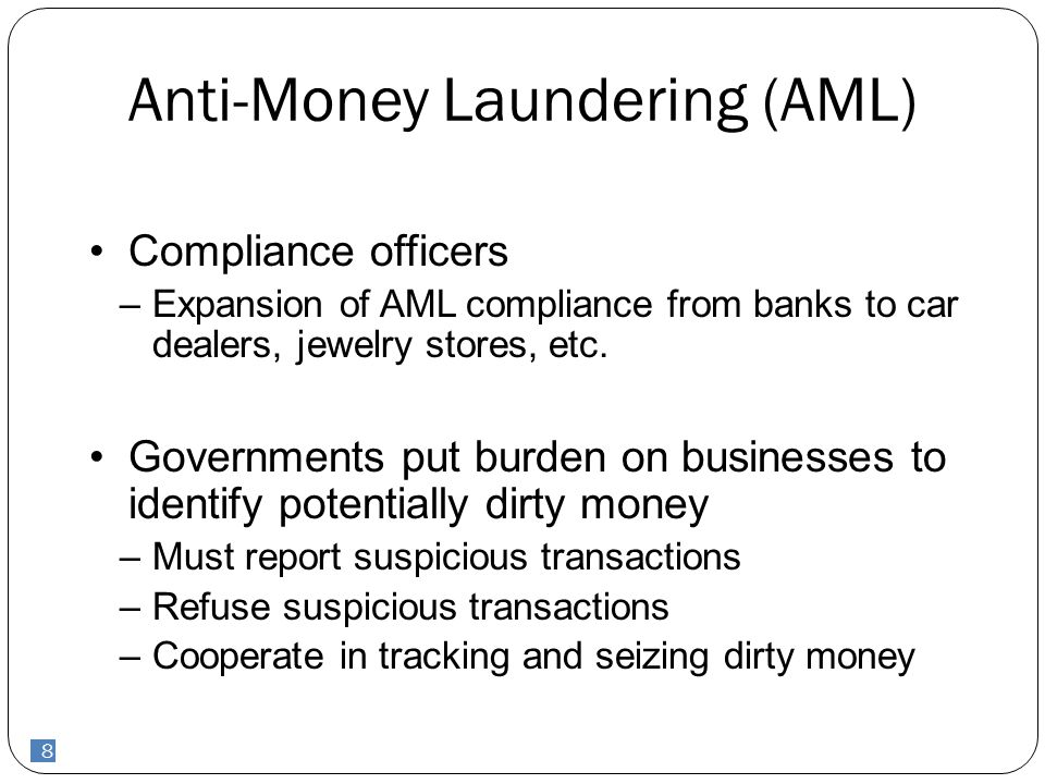 9 Cayman AML laws  Proceeds of Crime Law (POCL) 2008  Allows actions based on criminal lifestyle  Civil proceedings  Asset freezing powers  reasonable grounds for suspected money laundering is enough to trigger additional reporting requirements  Terrorism Law  Misuse of Drugs law 9
