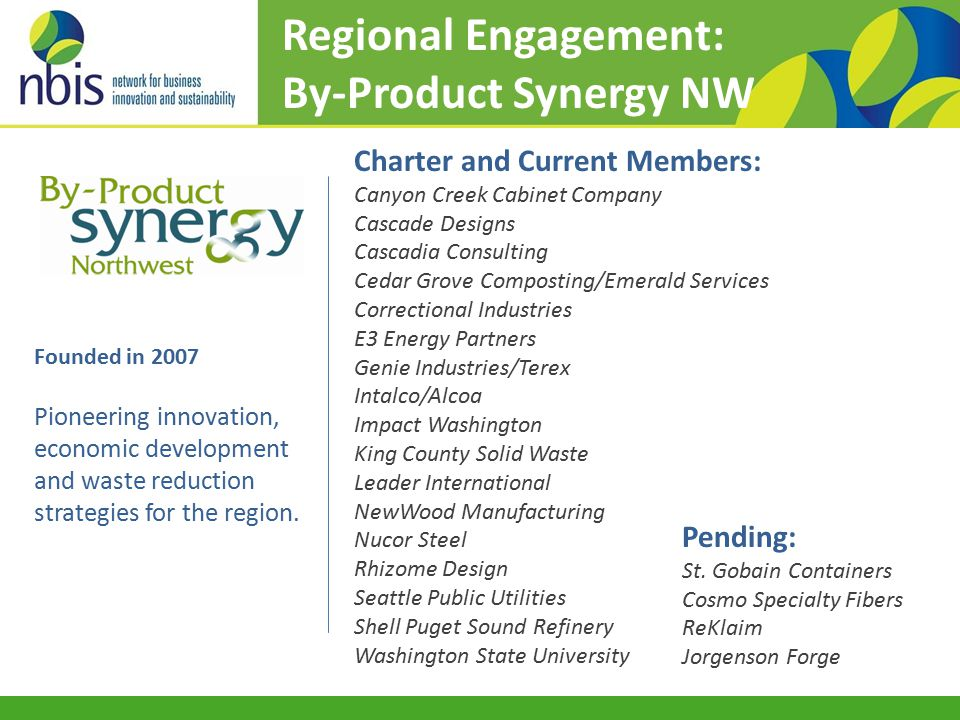 Founded in 2007 Pioneering innovation, economic development and waste reduction strategies for the region.