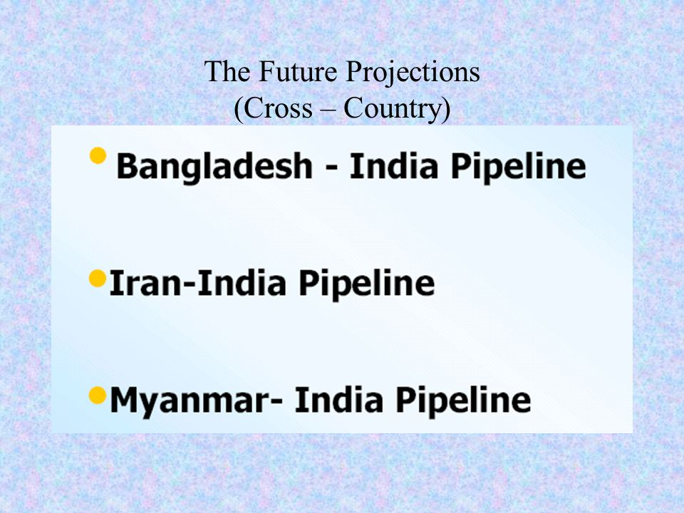The Future Projections (Cross – Country)