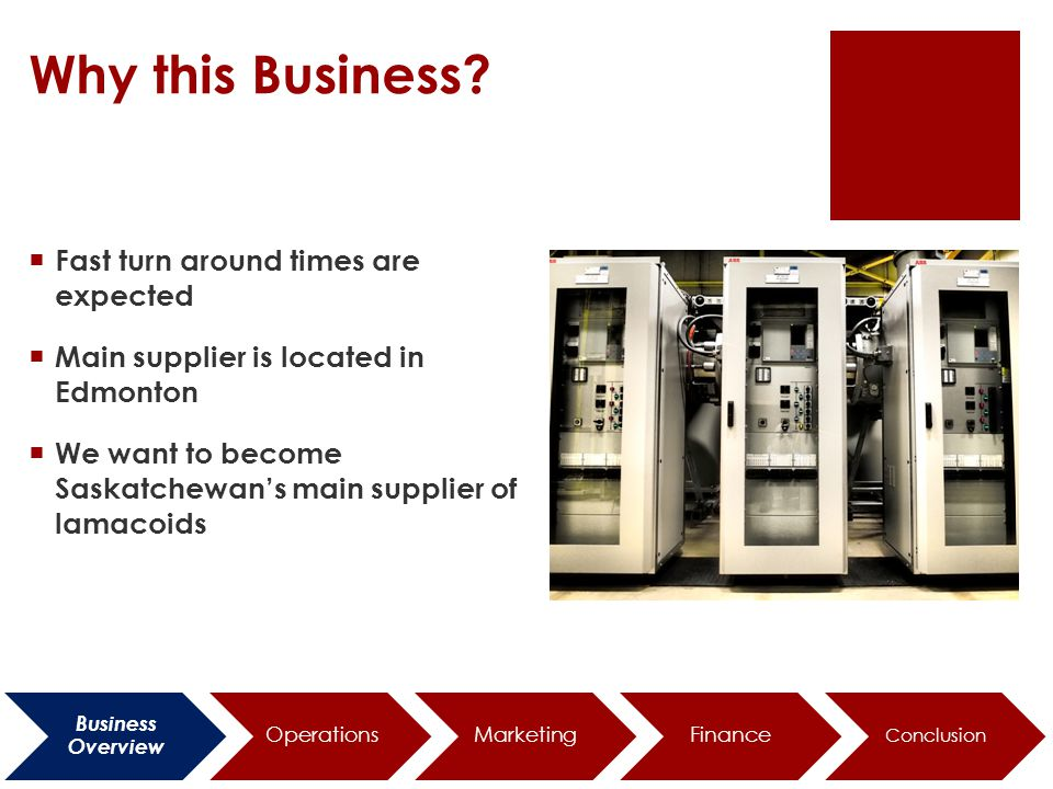 Location Business Overview Operations MarketingFinance Conclusion
