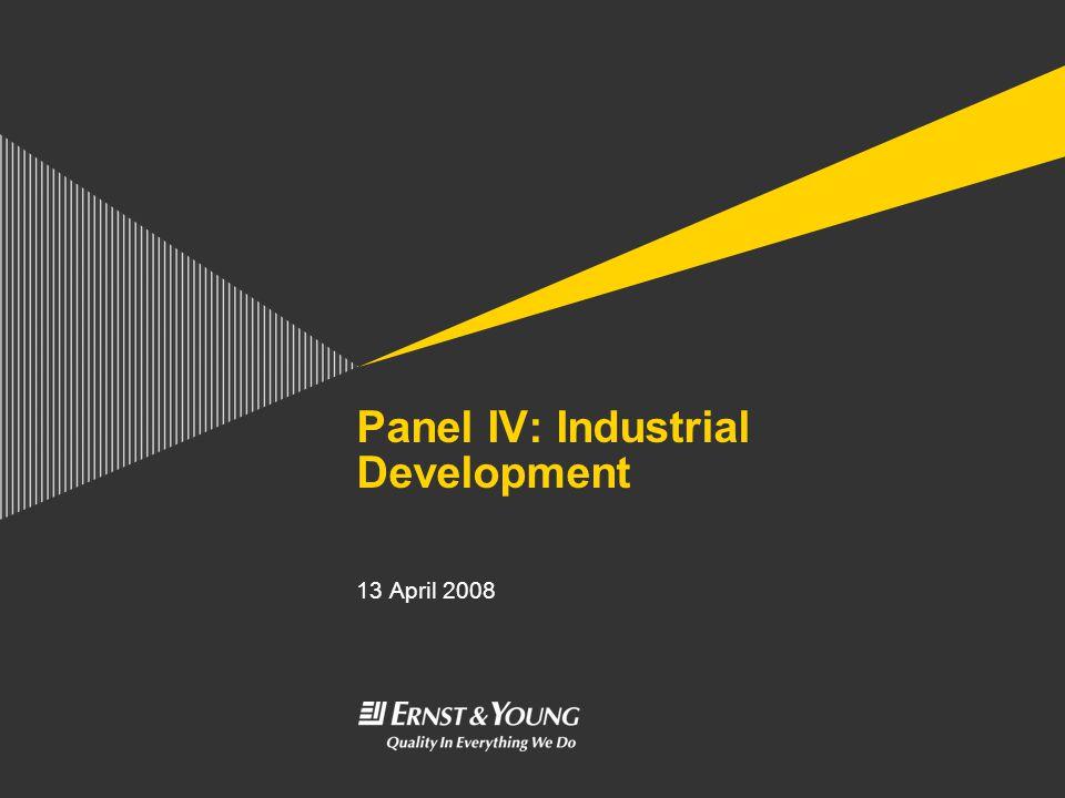 Panel IV: Industrial Development 13 April 2008