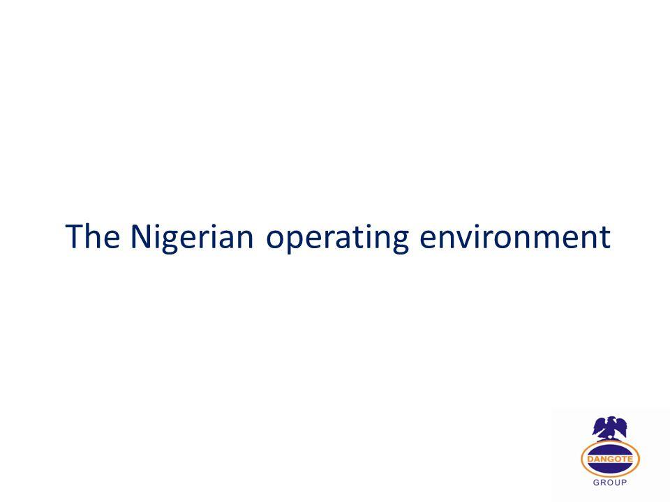 The Nigerian operating environment