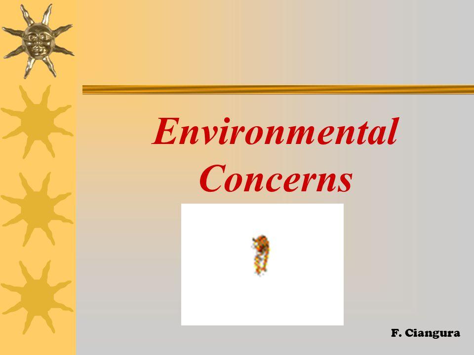 Environmental Concerns F. Ciangura