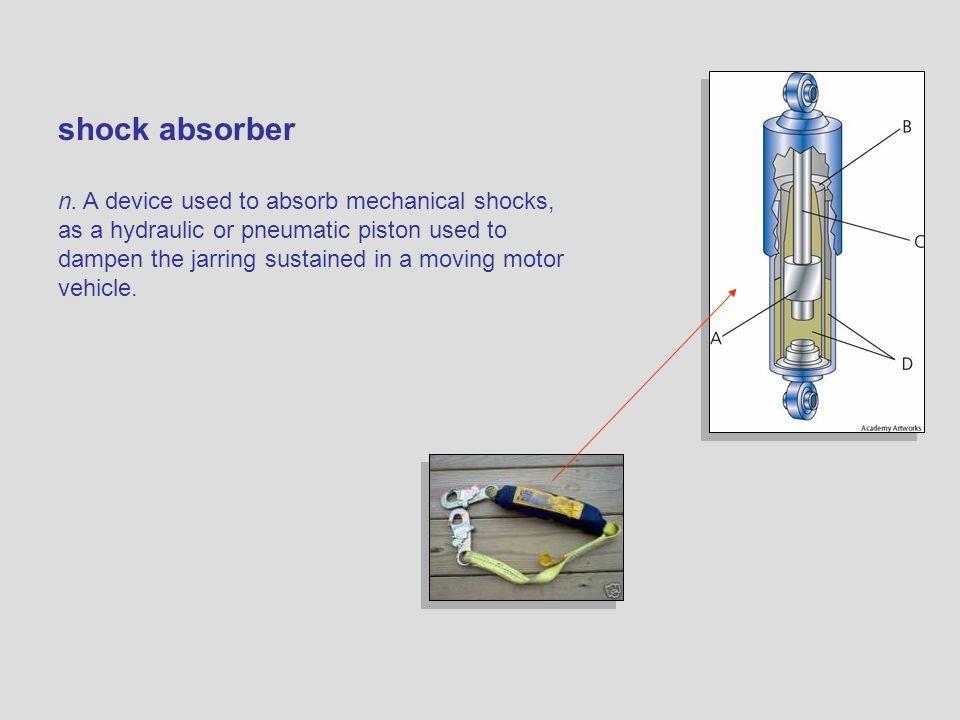 shock absorber n.