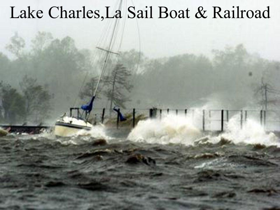Lake Charles,La Sail Boat & Railroad