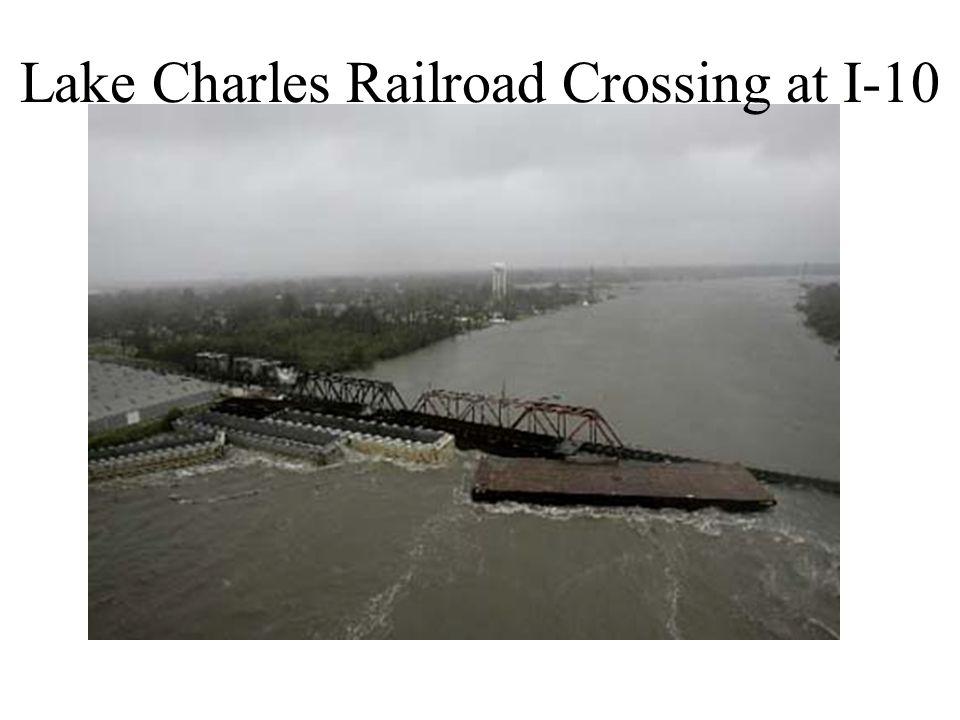Lake Charles Railroad Crossing at I-10