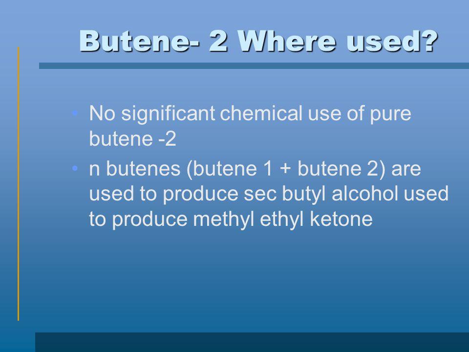 Butene- 2 Where used.